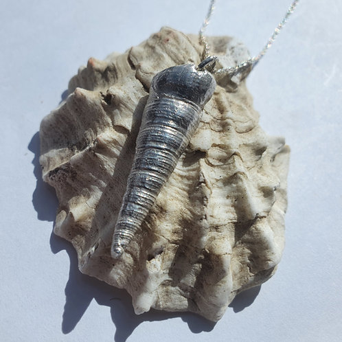 Silver Tower Shell Necklace