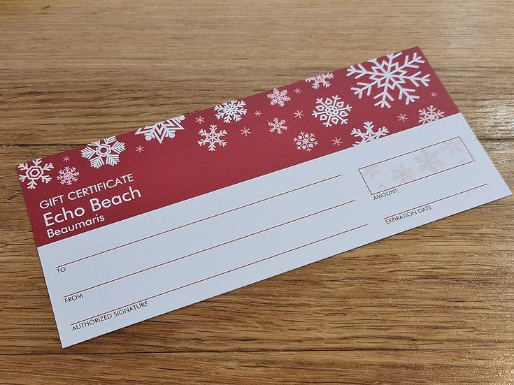 Echo Beach Christmas Gift Voucher