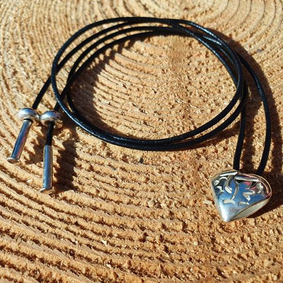 Welsh Dragon Heart Corded Necklace