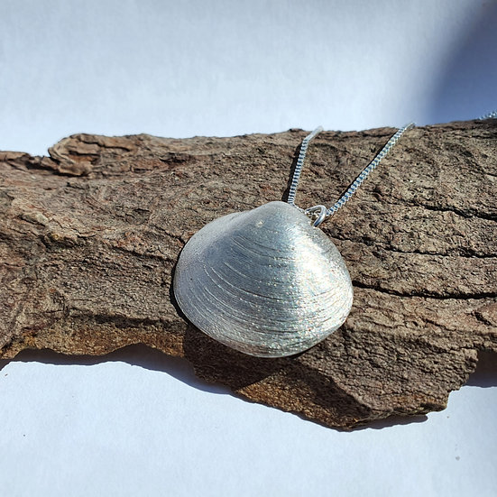 Silver Rayed Artemis Shell Necklace