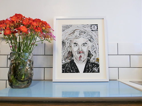 Limited Edition Billy Connolly Paper Collage Framed Print