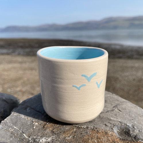 copy of copy of Small Seagulls in flight Pot