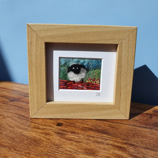Sheep in a Meadow Felt Framed Picture