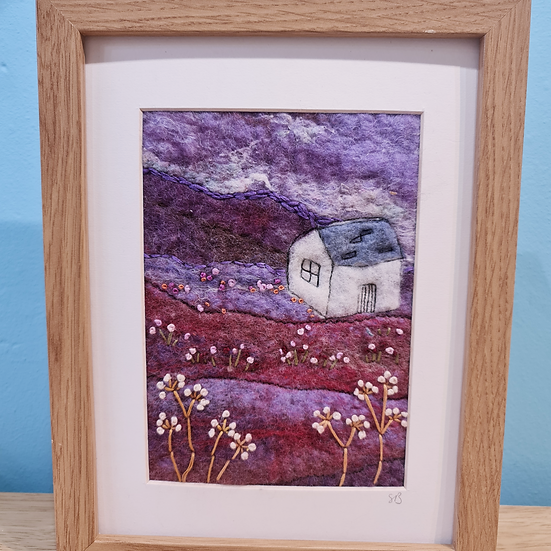 Welsh Cottage Felt Picture