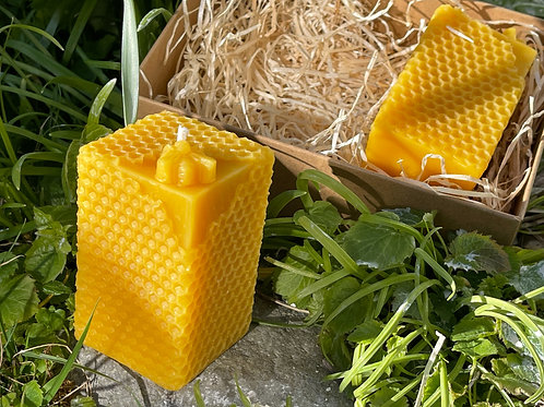 Honeycomb Beeswax Candles Gift Set