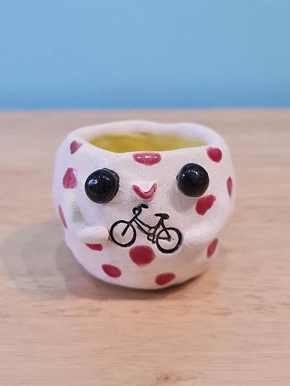 Love Cycling Happy Pot