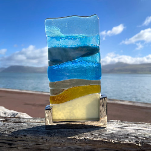 Seascape Fused Glass Light Catcher