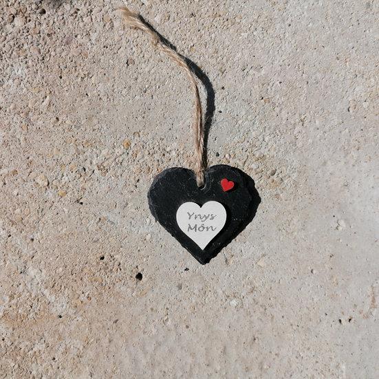 Small Ynys Môn Slate Heart