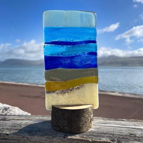 Fused Glass Summer Beach Light  Catcher