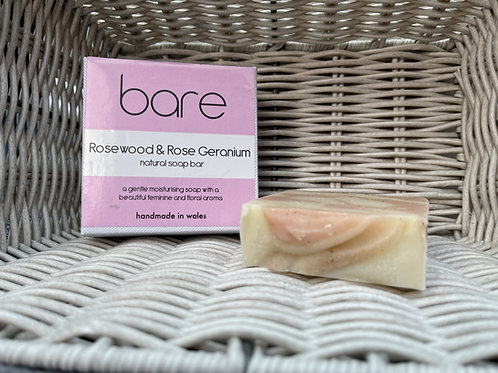 Rosewood & Rose Geranium Natural Soap