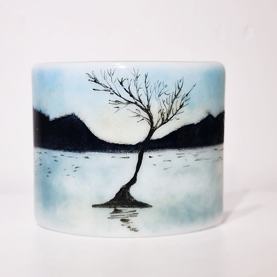 Lonely Tree Fused Glass Curve