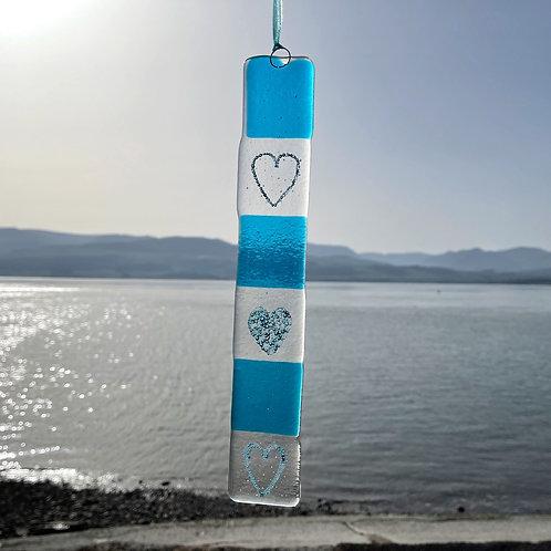Fused Glass Love the Sea Light Catcher