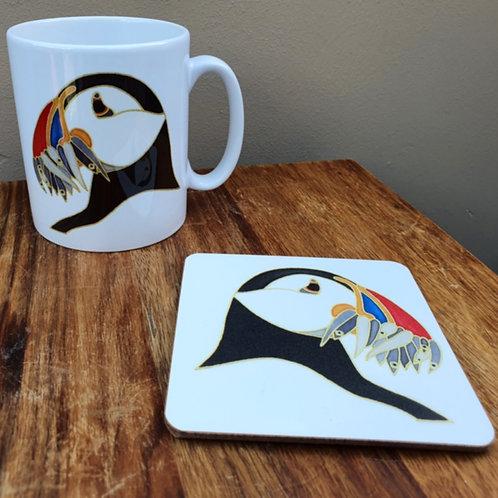 Puffin Mug & Coaster