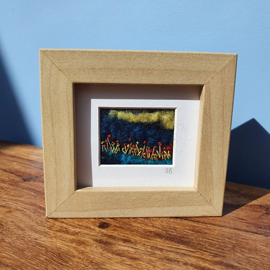 Flowers in a Meadow Felt Framed Picture