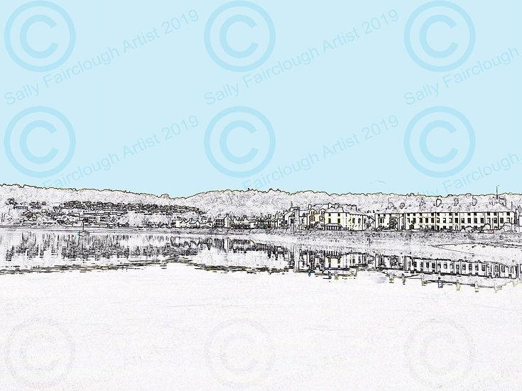 Beaumaris West End Framed Digital Print