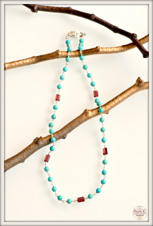 Ciel et Soleil Turquoise Necklace