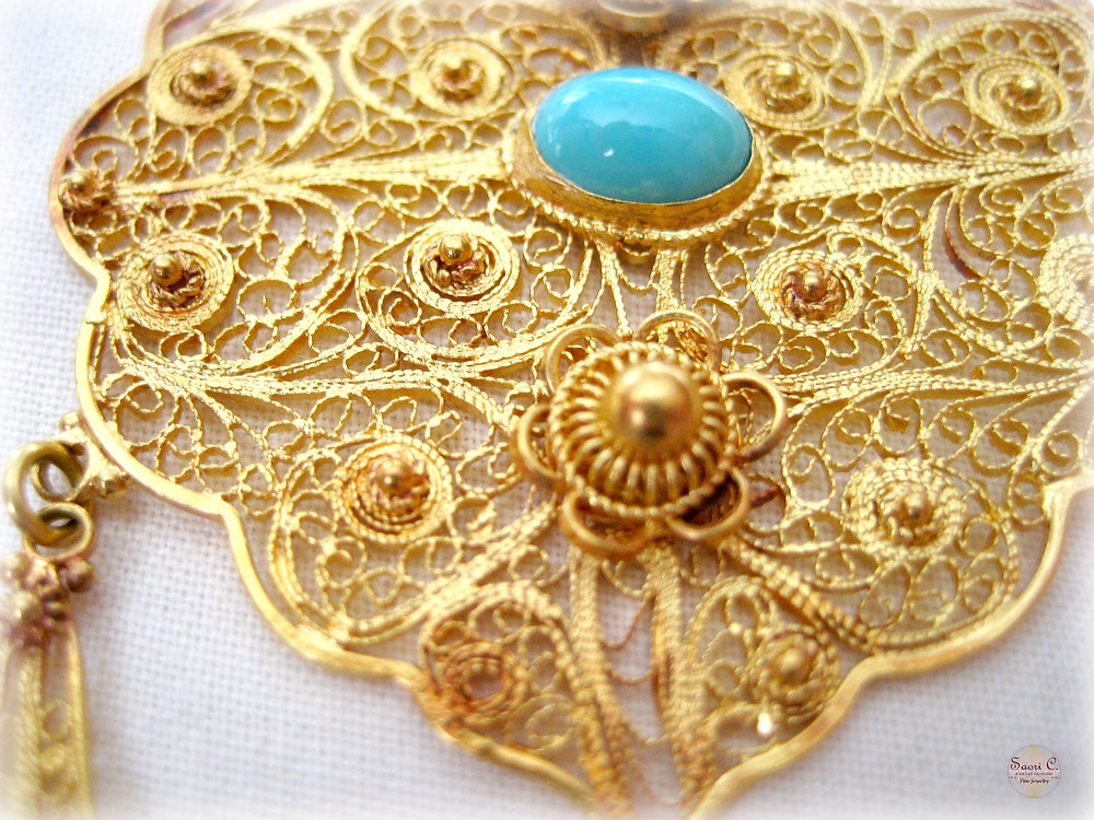 Iranian Gold Filigree