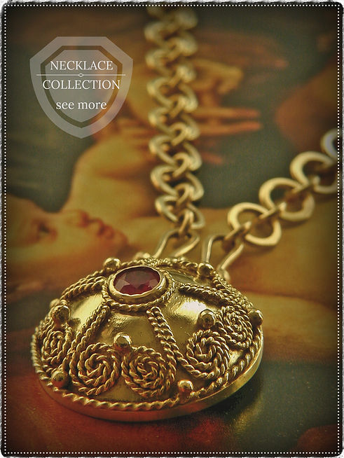 Our stunning handcrafted necklace collection features stunning one-of-a-kind custom gold jewelry