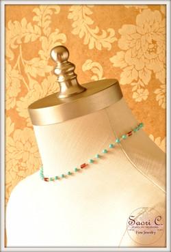 Ciel et Soleil Garnet and Turquoise Necklace