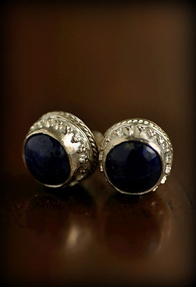 Our stunning handcrafted lapis lazuli and sterling silver earrings