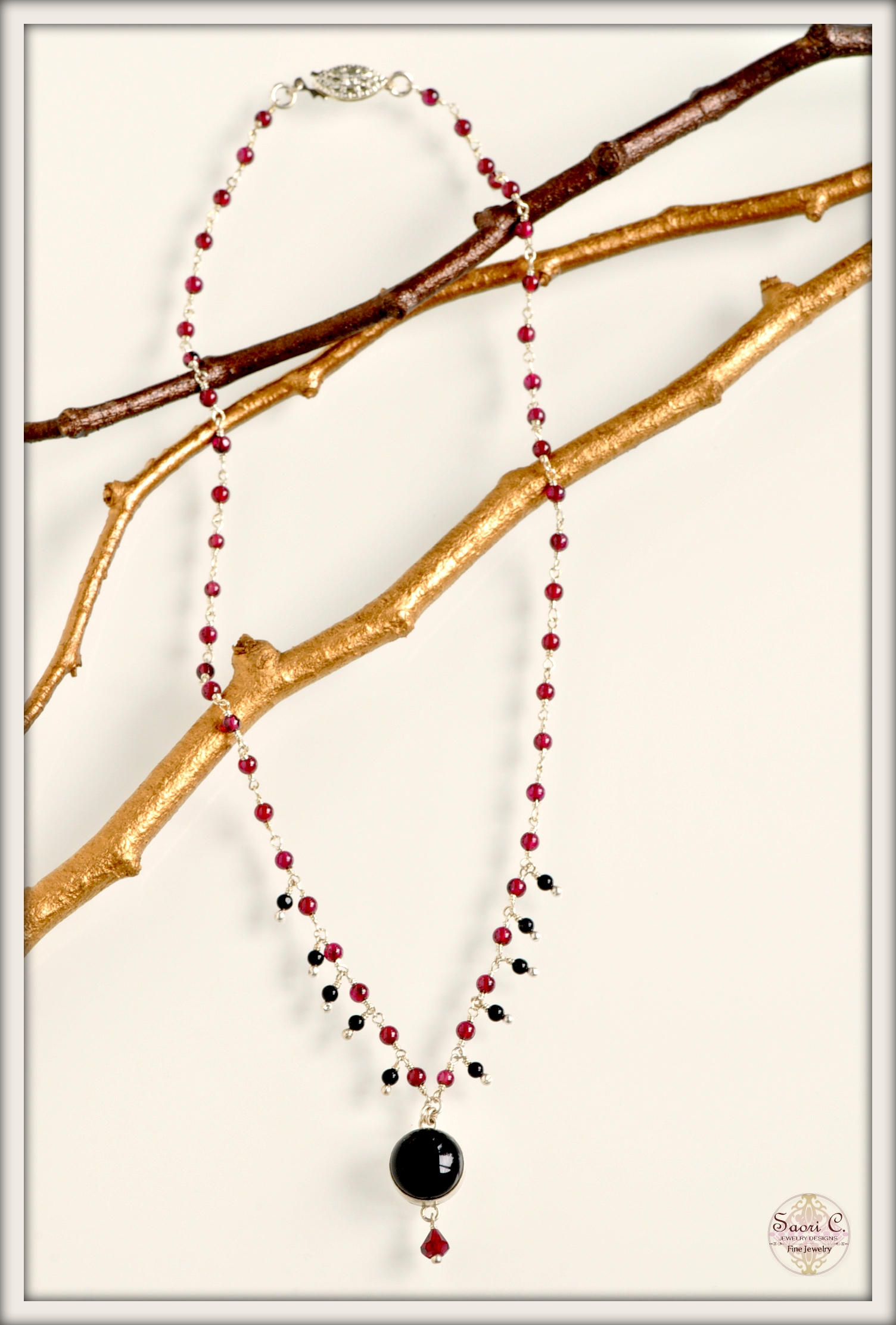 Vision Garnet and Black Onyx Necklace_new