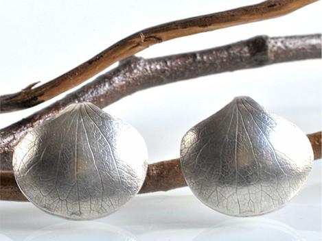 Nature's Inspiration - Hydrangea Leaf Earrings