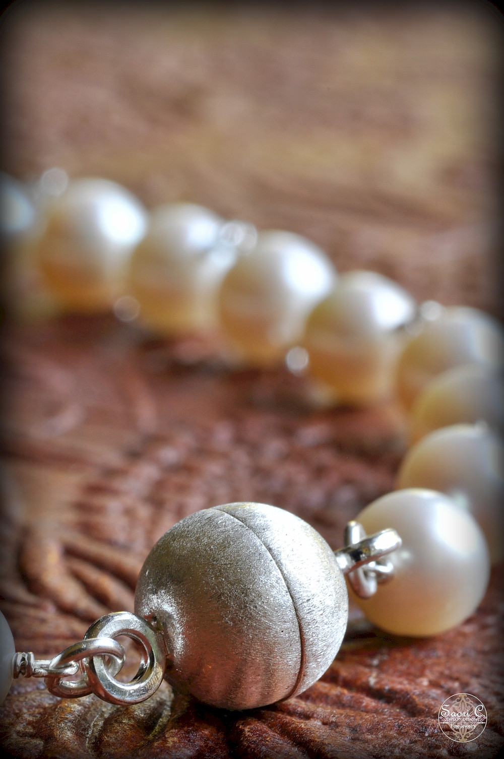 Magnetic Clasp on Custom Pearl Necklace