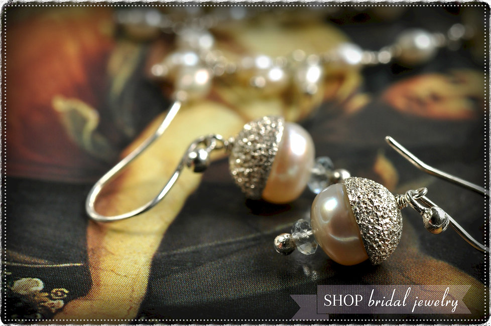 Our fine bridal jewelry collection features artisan handcrafted pearl earrings