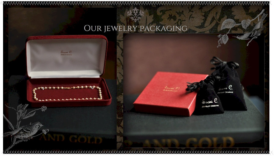 Our handcrafted fine jewelry is shipped in packaging that is just as elegant