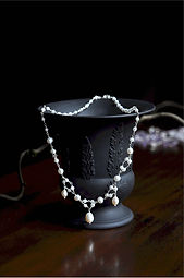 Our fine bridal jewelry collection features handcrafted pearl necklaces