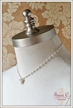 Eclipse Pearl and Moonstone Necklace