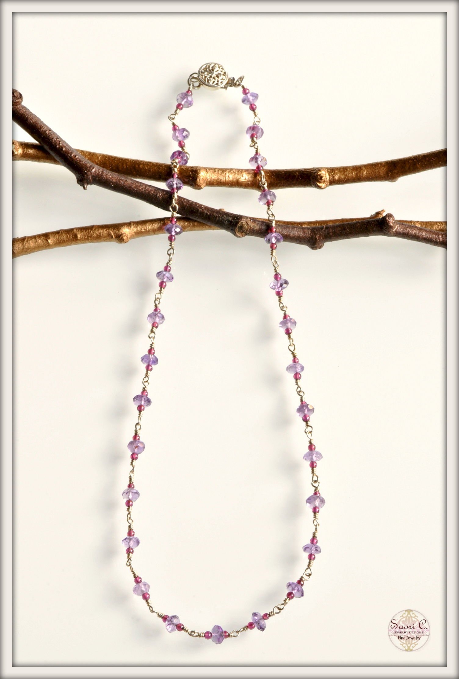 Confetti Amethyst and Garnet Necklace_new2