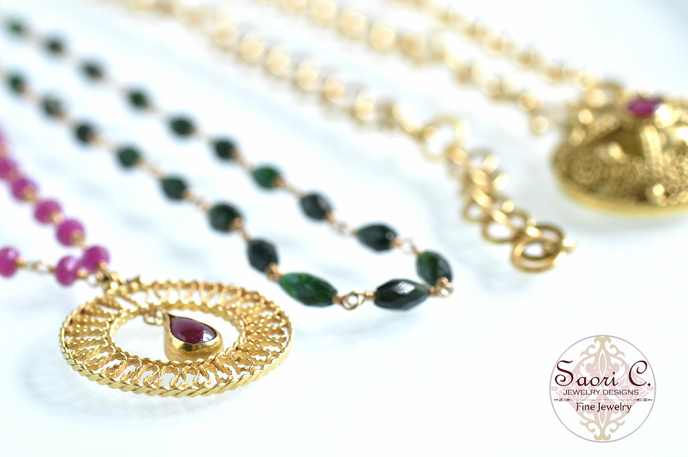 Gold Jewelry Line from Saori C. Jewelry Designs