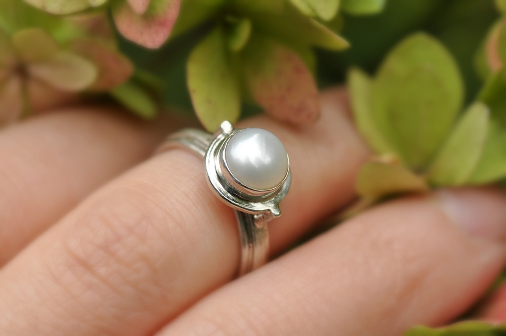Couture Sterling Silver and Pearl Ring