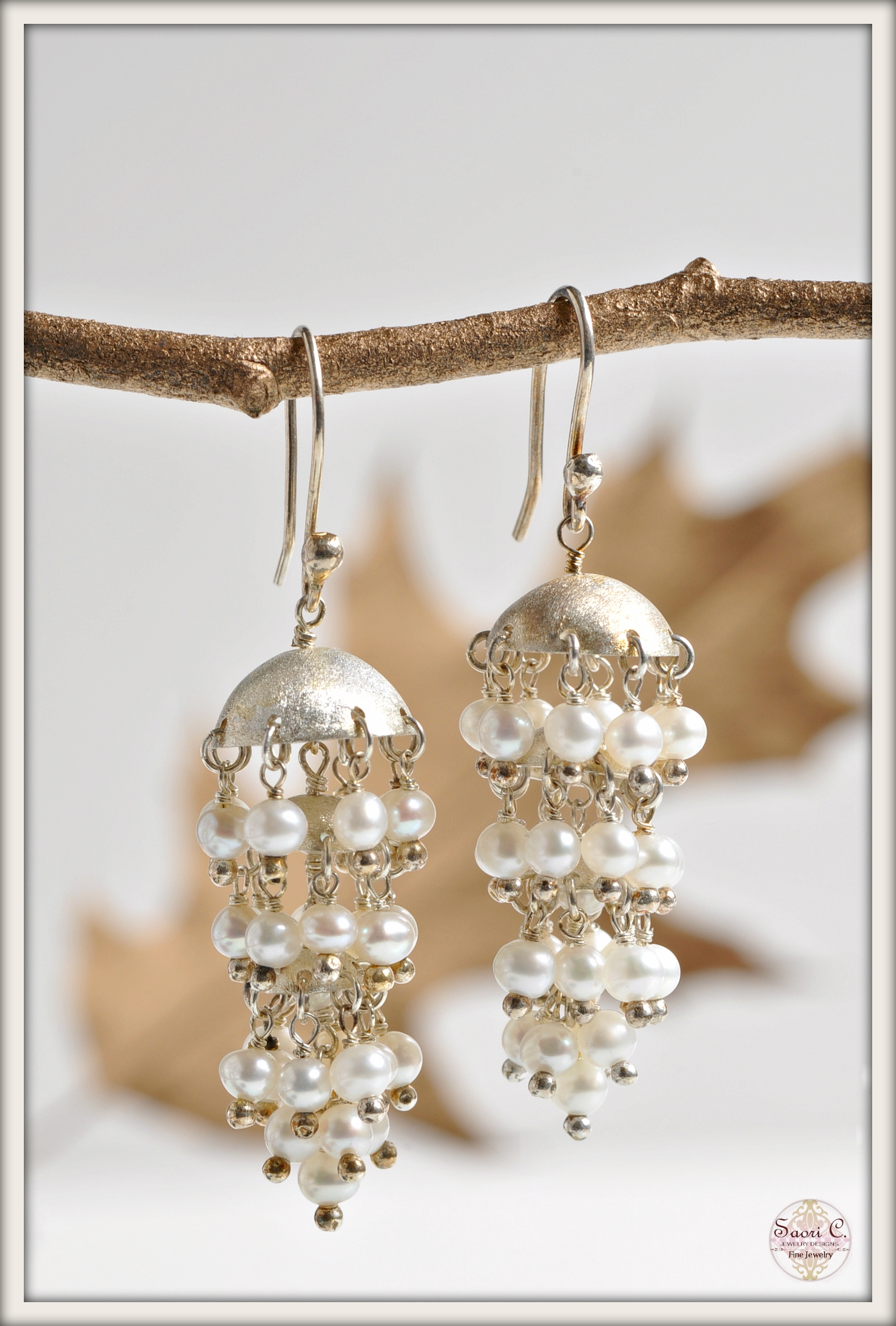Stardust Pearl Chandelier Earrings