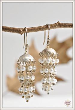 Stardust Pearl Chandelier Earrings