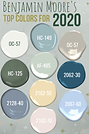 Top Paint Colors for 2020 from Benjamin