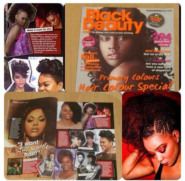 Black Hair and Beauty Hair magaznine, Tanya Elaine Hairdressing
