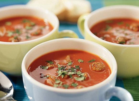 Tomatenroomsoep met balletjes