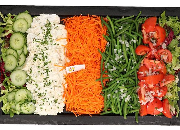 Verse groenten schotels (2 dagenop voorhand) voor 4 pers.