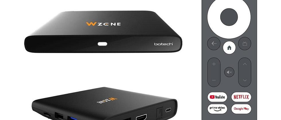 GigaBlue x Botech WZONE 4K ANDROID 10 TV Box HDR60Hz / HDMI2.1 Streaming Empfang