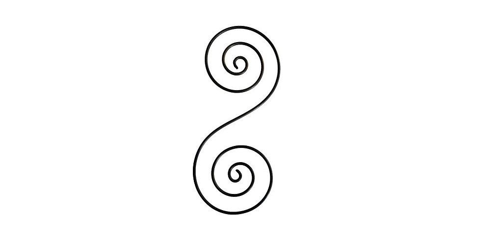 Keltská dvojitá spirála – zářič