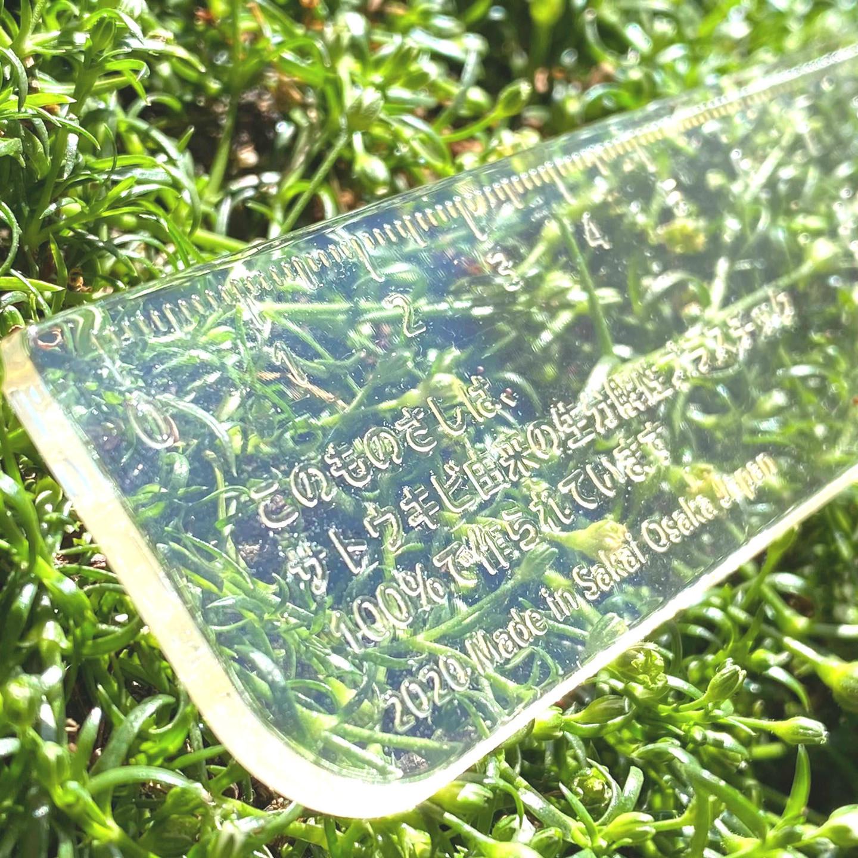 生分解性プラスチック100%素材のものさし