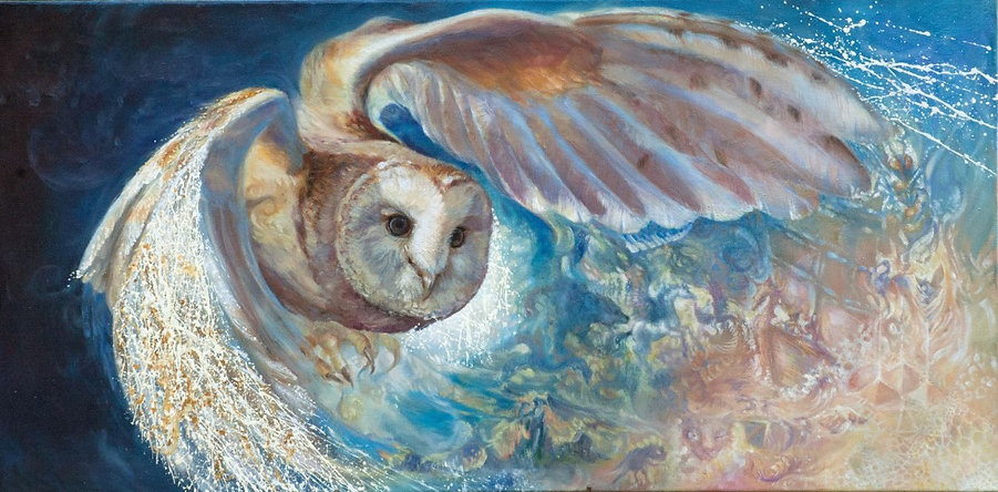 Dreamweaver Oil Painting by Colleen Black