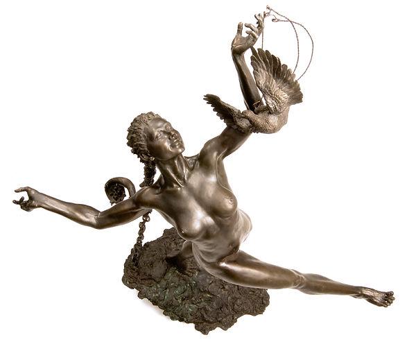 Blind Faith - Bronze Sculpture by Colleen Black