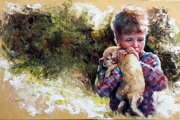 A Golden Moment - Oil Painting by Colleen Black
