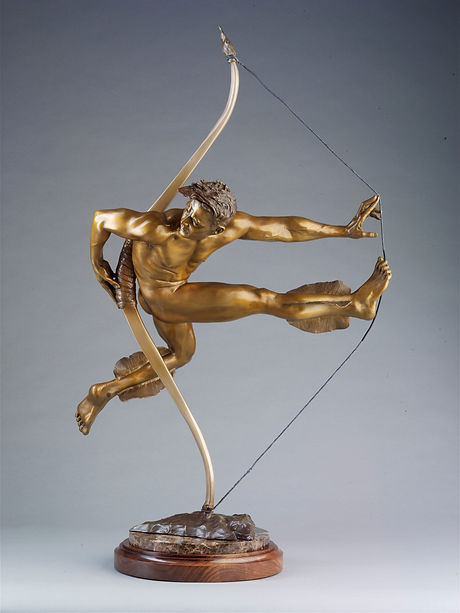 Arrow Bronse Sculpture by Collen Black - Right View