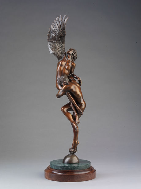 Love Giving Wings Bronze Sculpture by Colleen Black