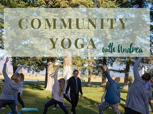Community Yoga - 6 classes (pay it forward)