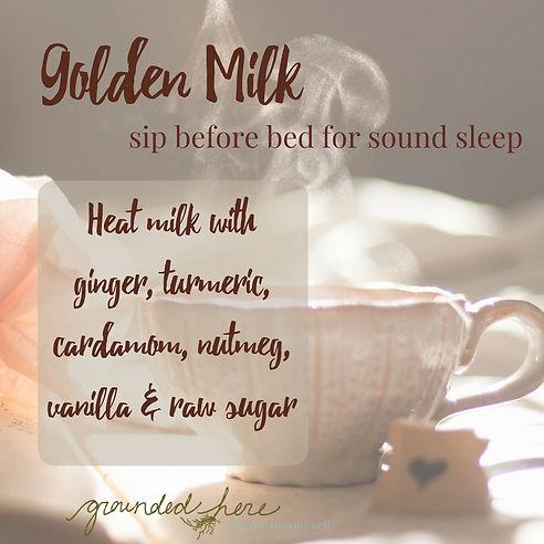 Gold Milk Recipe for Sound Sleep